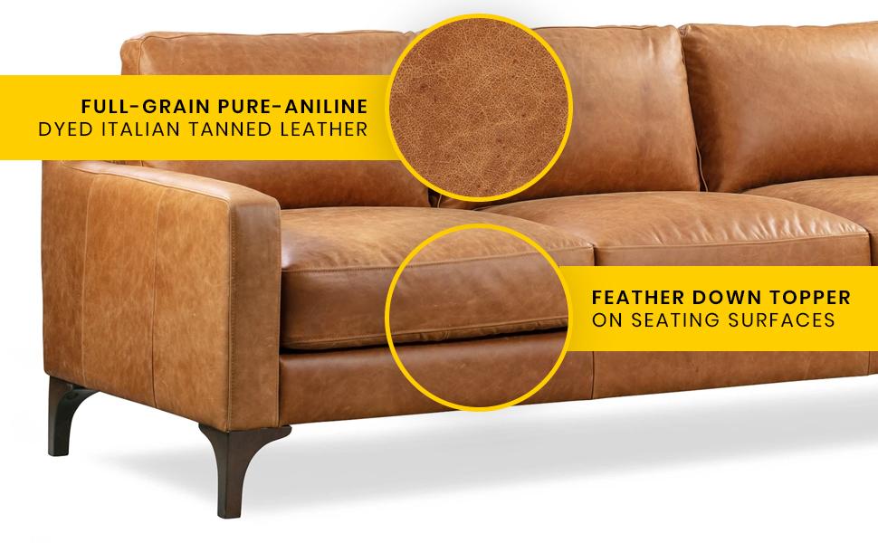 sorrento sofa features callout