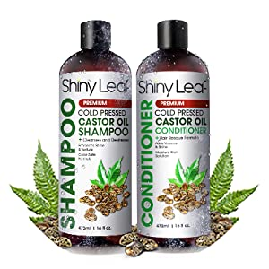Shiny Leaf Castor Oil Shampoo and Conditioner