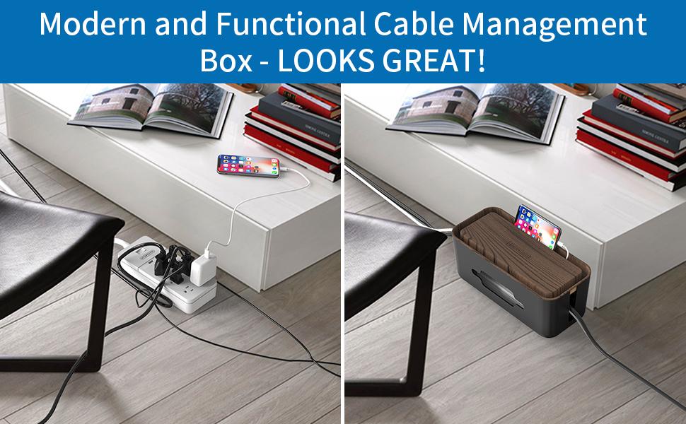 cable box organizer