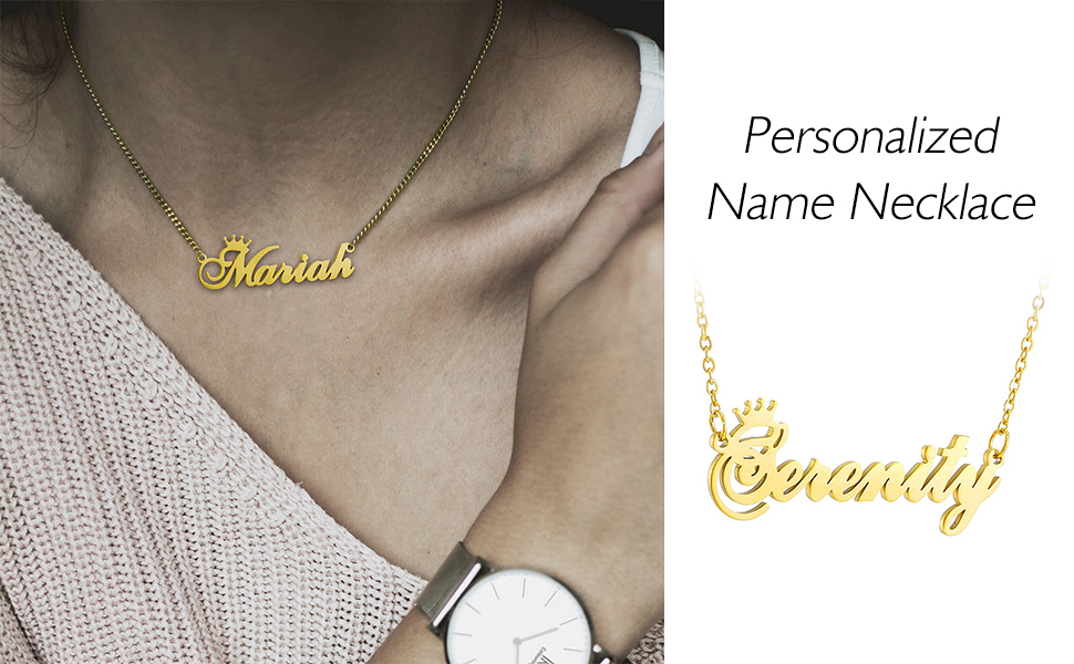 name necklaces for women