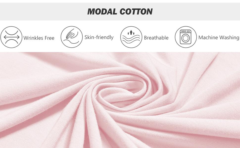 SIORO Nightgown Womens Modal Cotton Night Shirt for Sleeping