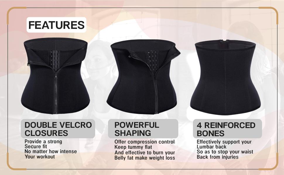 double velcro hook lumbar support straight back reinforced bones spiral steel posture correction