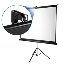 Pantalla de proyector con trípode de Soporte, Excelvan 100 Pulgadas 203cm x152cm Diagonal 16: 9 Pantalla de proyector Exterior para HD 4K 8K Home ...