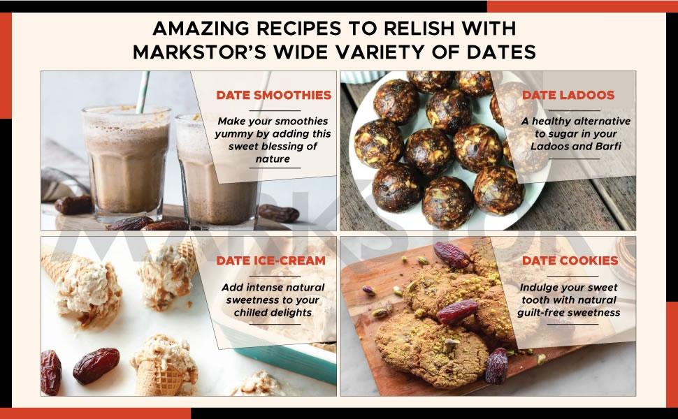 dates, recipes, dates, dry fruit, khajoor, ajwa, medjoul, safavi, kalmi, kimia, seedless, omani