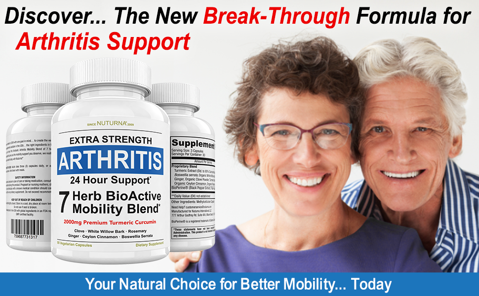Turmeric Curcumin 2000 mg Natural Arthritis Support Joint inflammation Pain Relief S Men Women