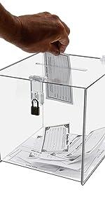Marketing Holders Locking Ballot Box Suggestion Box