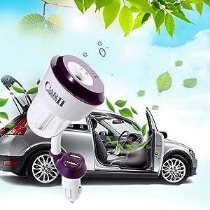 Aceite Esencial del difusor del Aroma con Cargador USB Mini p/úrpura de Vapor fr/ío Adore store Humidificador Coche