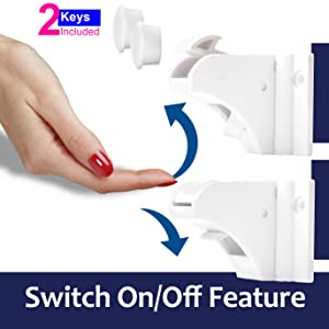 Activate or Disable The Locks with The Lever Just Flip It