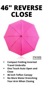 "Pink 46"" Inverted Umbrella"