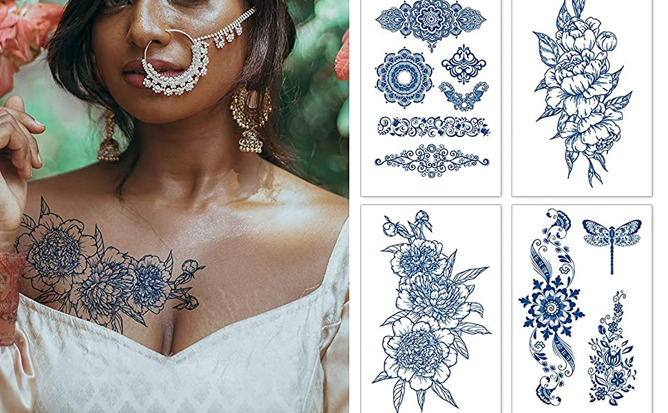 Semi Permanent Tattoos for Women Teen Girls