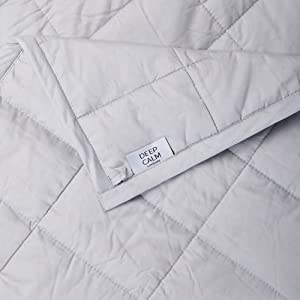 7kg 200 Thread Count Cotton Silver Grey 150x200cm For Adults Soft Deep Calm Weighted Blanket Stress /& Anxiety Relief with our Heavy Sensory Calming Blanket Better Sleep