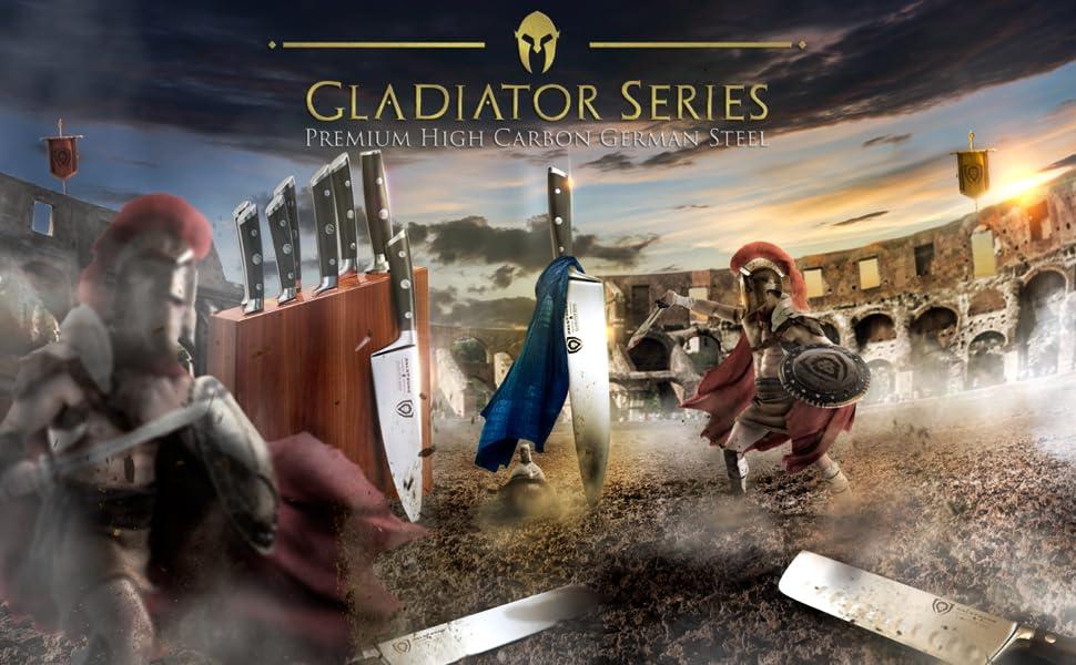 dalstrong gladiator series high carbon german premium steel full tang spanish pakkawood handle