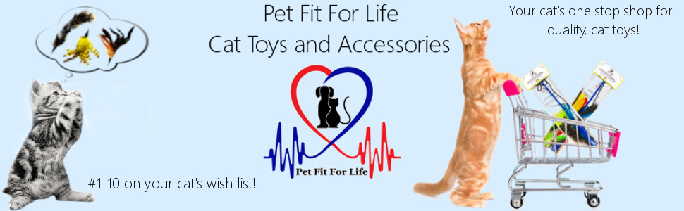 Pet Fit For Life Cat Feather Teaser Toys