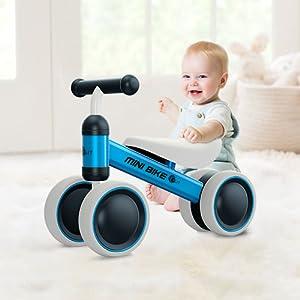 YGJT Bicicletas sin Pedales para niños 1 Año(10-18 Meses) Triciclos Bebes Correpasillos Juguetes Regalos bebé Bici sin Pedales niño (Naranja)
