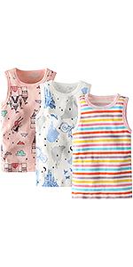 Adorel Camiseta Interior Algodón para Niñas Paquete de 3