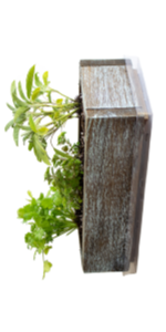 barnwood style planter aged