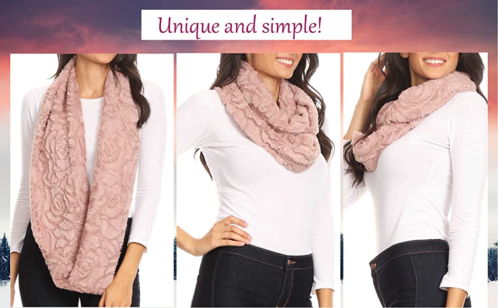 scarf knit chunky large soft warm winter cold light solid unisex women neck scarf casual simple nice