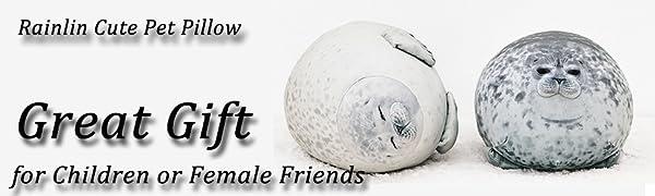 chubby seal pillow plush animal toys cute pet pillow fuzzy ocean Stuffed Cotton seal pillow fluffy