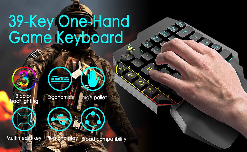 38 Key one hand game Keyboard