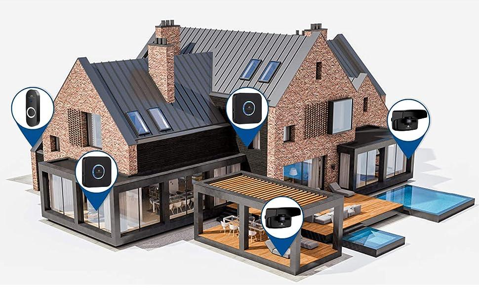 driveway alarm home security drive way sensor alarm motion sensor PIR sensor smart security system