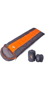 寝袋 封筒型 軽量 防水 コンパクト