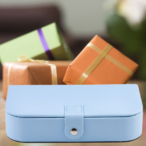 Light Blue Jewelry Trave Box as Gift