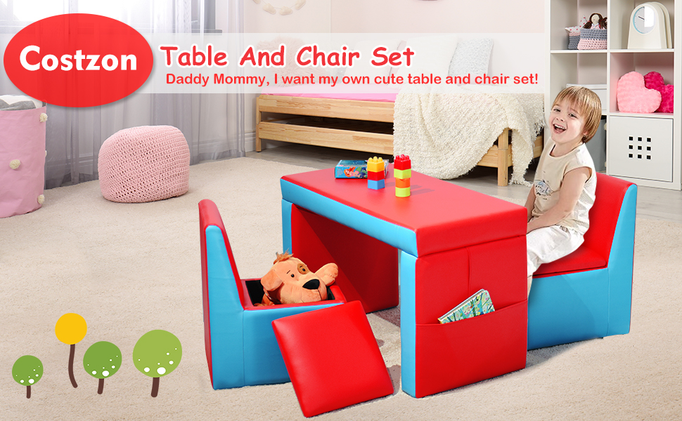 kids 2 in 1 sofa table and chair