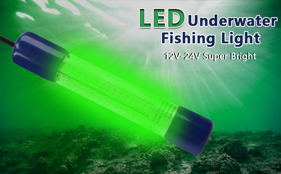 Attract Squid LED Underwater PC Pond Fishing Light Double Waterproof Night Krill