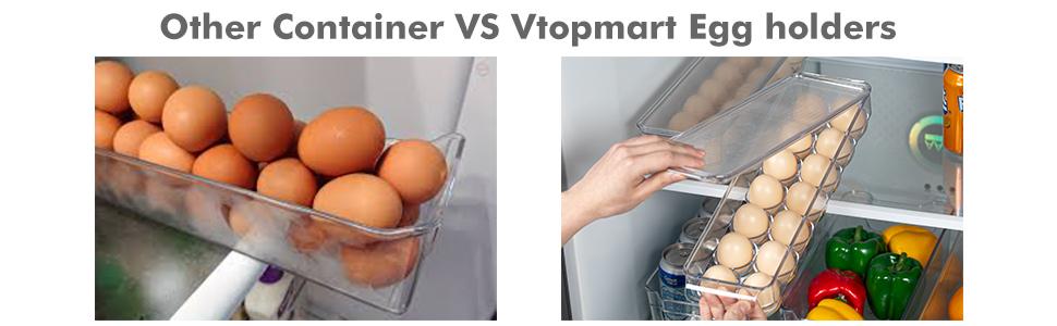 Vtopmart Egg Organizer bins