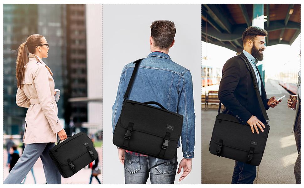 Messenger Bags for Men Women Satchel Bag Briefcase Crossbody Shoulder Bags College School Bookbag
