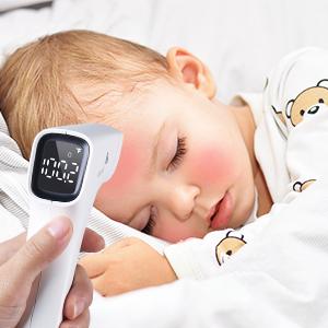 Kinder und Babys Infrarot-Thermometer Sofortige genaue Ablesung medizinische Babythermometer f/ür Fieber CocoBear ber/ührungsloses digitales Stirnthermometer f/ür Erwachsene