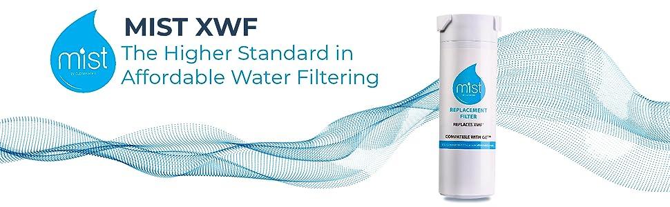 Mist GE XWF GWE19JSLSS, WR17X30702, GBE21, GDE21, GDE25, GFE24 Refrigerator Water Filter Graphic