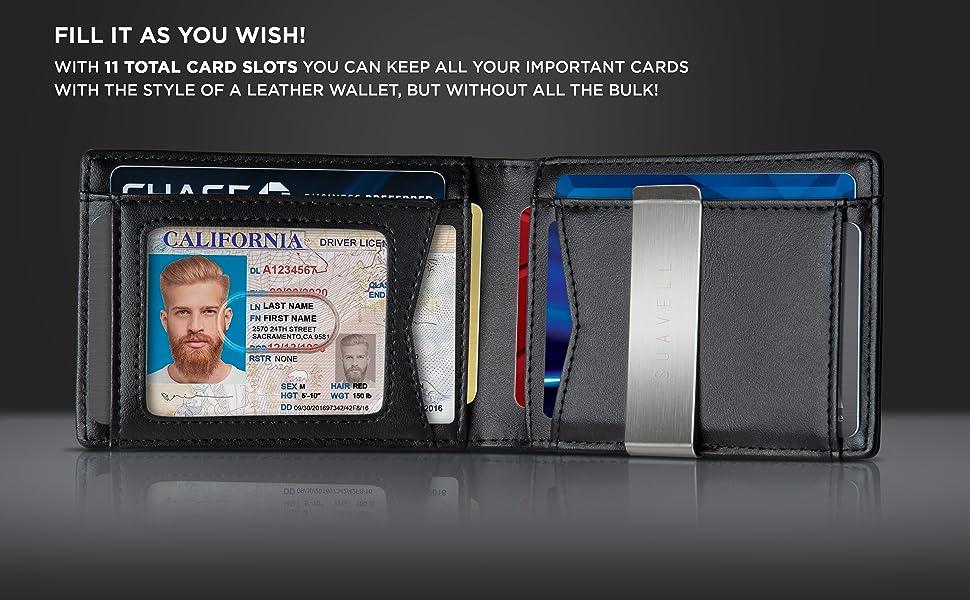 Minimalist Wallet billeteras hombres cartera hombre smart mini man small men's