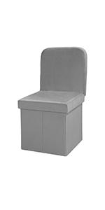 grey chair ottoman