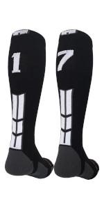 Number Socks baseball softball football