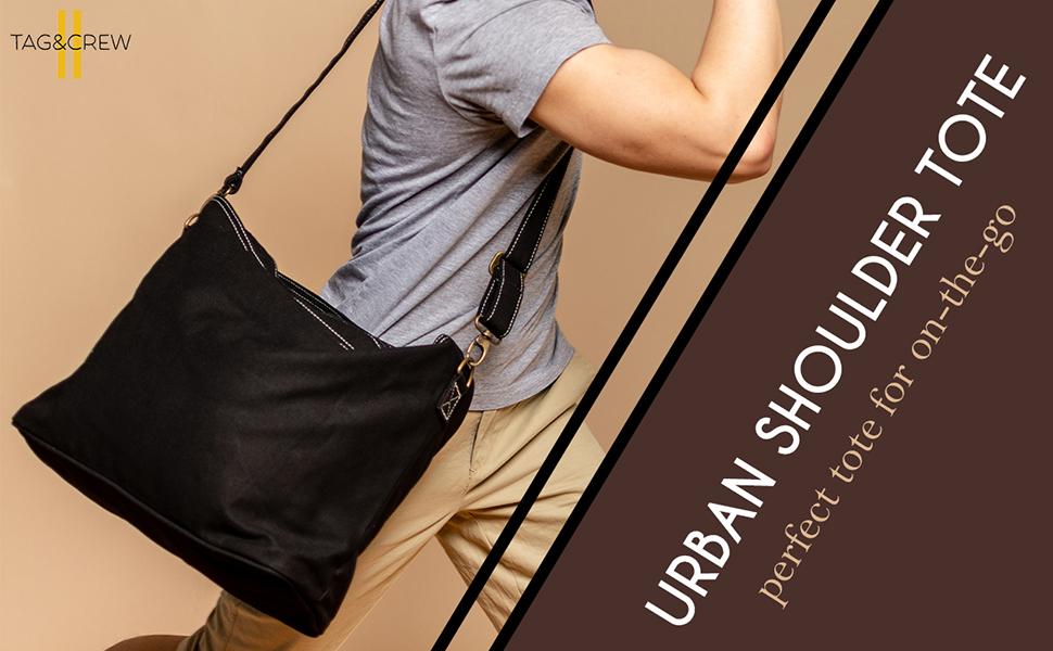 Tagamp;Crew Urban Shoulder Tote Messenger bag