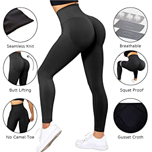 seamless butt lifting leggings