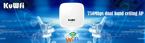 KuWFi dual band indoor ceiling mount wireless access point