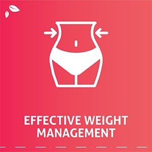 Helps in effective weight management