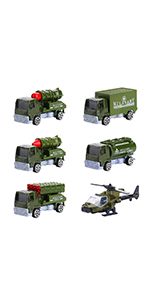 6 Pcs Diecast Military Toy Vehicles -2