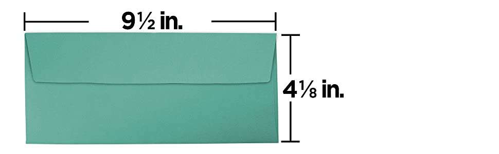 aqua #10 business colored envelope