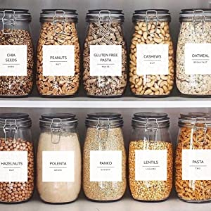 fine line pantry label set by talented kitchen