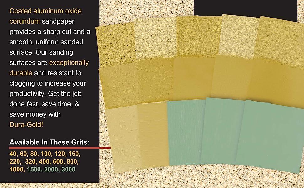 Dura-Gold Premium 12 Yard Continous Roll Sandpaper with Hook & Loop Back