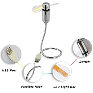 USB LED Fan