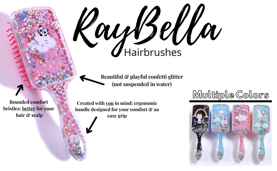 raybella fun confetti hair brush