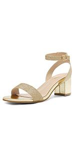 women chunky mid heel sandals sexy