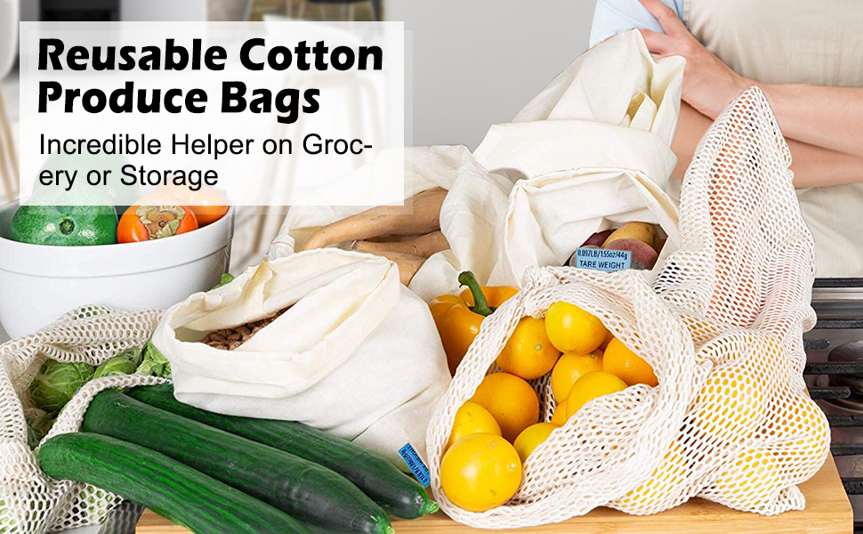 Reusable Cotton Produce Bags