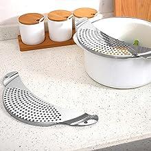 kitchen accessories gadgets fine mesh strainer strainers for kitchen pot strainer food strainer