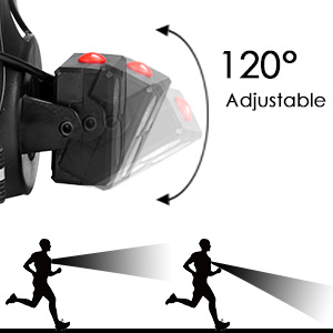 USB Rechargeable 90° Adjustable Chest Light for Runners