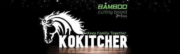 KOKITCHER Bamboo Cutting Board set